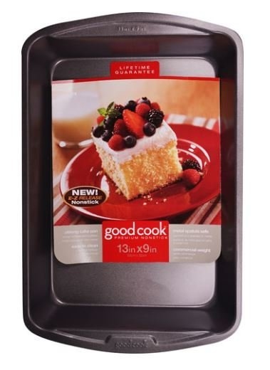 "Cake Pan, Good Cook® Nonstick Oblong Cake Pan (13"" x 9"" Cake Pan)"