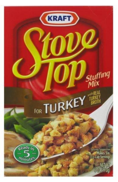 Stuffing Bread, Kraft® Stove Top® Turkey Stuffing Mix (6 oz Box)