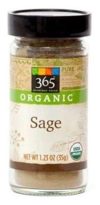 Organic Seasonings, 365® Organic Sage (1.23 oz Jar)