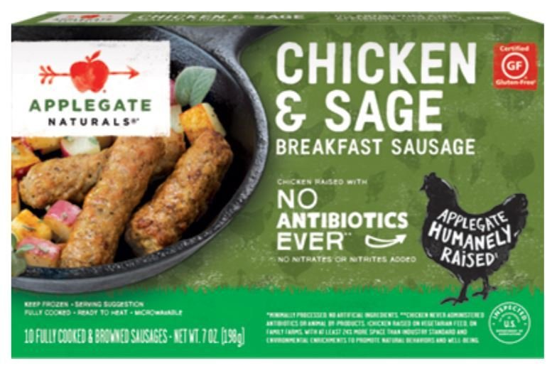 Frozen Sausage Links, Applegate Farms® Chicken & Sage Sausage Links (7 oz Box)
