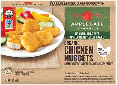 Chicken Nuggets, Applegate Farms® Organic Chicken Nuggets (8 oz Box)
