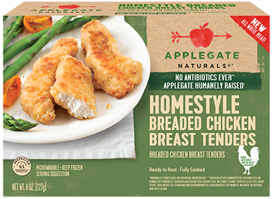 Chicken Tenders, Applegate Farms® Homestyle Chicken Breast Tenders (8 oz Box)