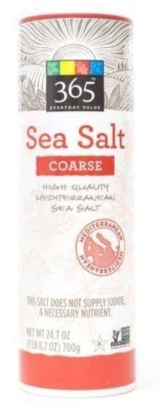 Seasonings, 365® Sea Salt (26.5 oz Tube)