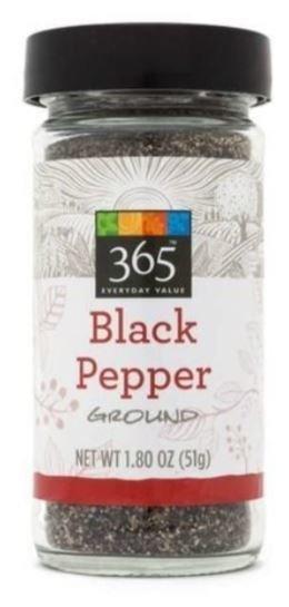 Seasonings, 365® Black Pepper (1.8 oz Jar)