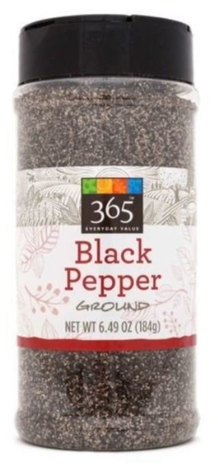 Seasonings, 365® Black Pepper (6.49 oz Jar)