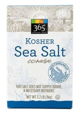 Seasonings, 365® Sea Salt (2.2 Lb Box)