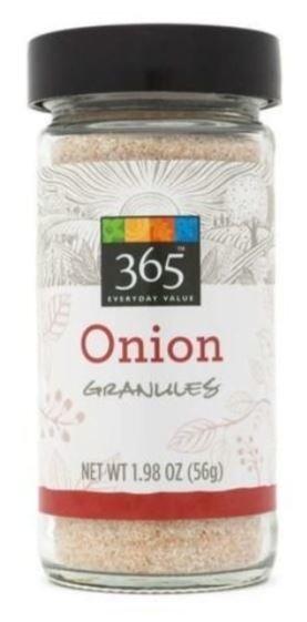 Seasonings, 365® Onion Granules (1.98 oz Jar)
