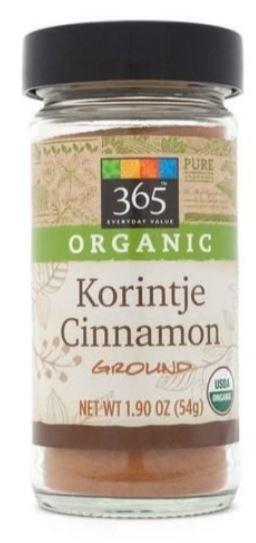 Organic Seasonings, 365® Organic Korintje Cinnamon (1.9 oz Jar)