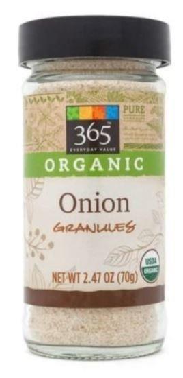 Organic Seasonings, 365® Organic Onion Granules (2.47 oz Jar)
