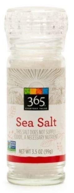 Seasonings, 365® Sea Salt (3.5 oz Jar)
