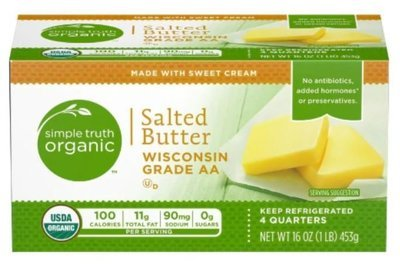 Organic Butter, Simple Truth Organic™ Salted Stick Butter (16 oz Box)