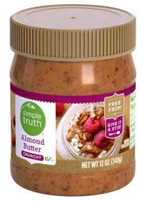 Almond Butter, Simple Truth™ Crunchy Almond Butter (12 oz Jar)