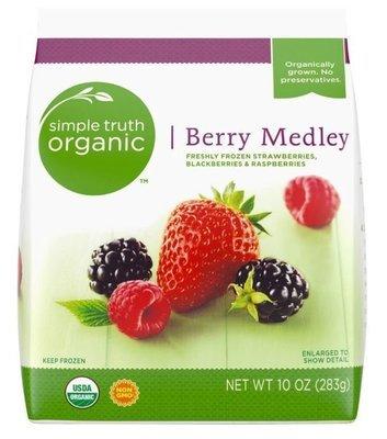 Frozen Fruit, Simple Truth Organic™ Berry Medley (10 oz Bag)