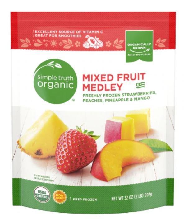 Frozen Fruit, Simple Truth Organic™ Mixed Fruit Medley (32 oz Bag)