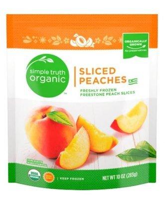 Frozen Fruit, Simple Truth Organic™ Sliced Peaches (10 oz Bag)