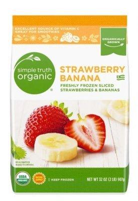 Frozen Fruit, Simple Truth Organic™ Sliced Strawberries & Bananas (32 oz Bag)