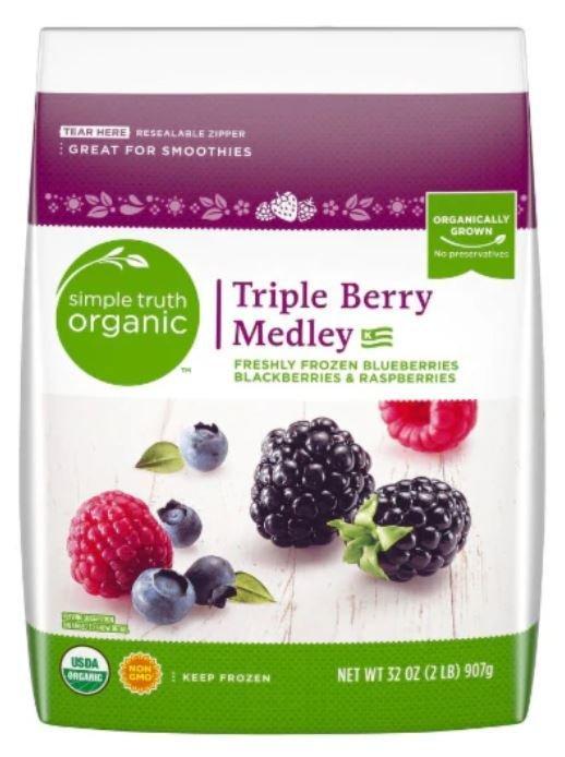 Frozen Fruit, Simple Truth Organic™ Triple Berry Medley (32 oz Bag)