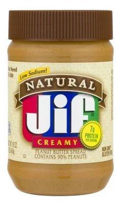 Peanut Butter, Jif® Natural Creamy Peanut Butter (16 oz Jar)