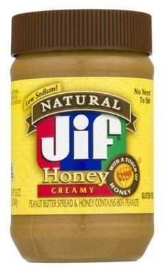 Peanut Butter, Jif® Natural Creamy Honey Peanut Butter (16 oz Jar)