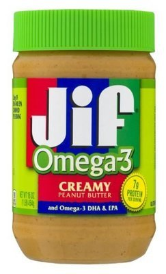 Peanut Butter, Jif® Omega-3 Creamy Peanut Butter (16 oz Jar)