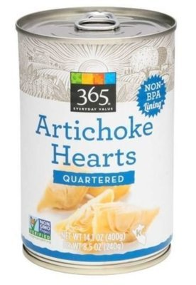 Canned Artichoke, 365® Quartered Artichoke Hearts (14.1 oz Can)