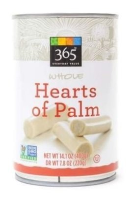 Canned Palm, 365® Whole Hearts of Palm (14.1 oz Can)