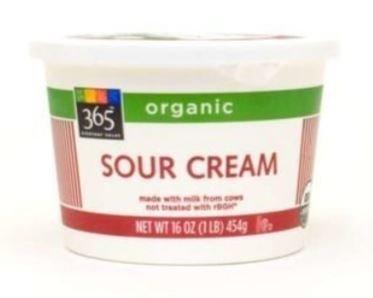 Sour Cream, 365® Low Fat Sour Cream (16 oz Cup)