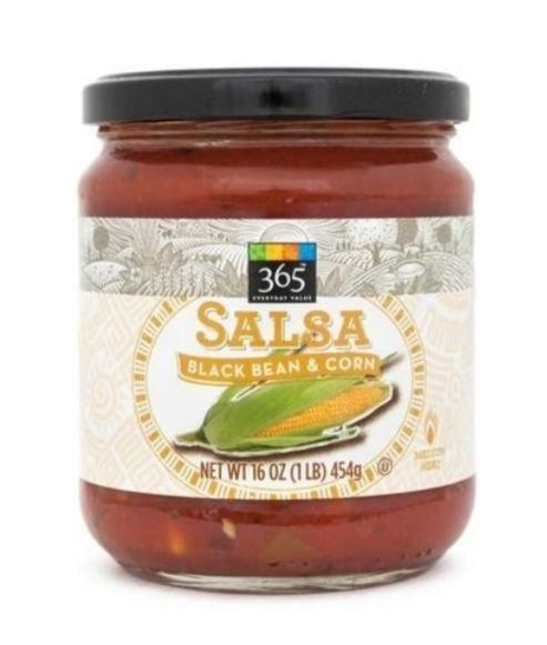 Salsa, 365® Medium Black Bean & Corn Salsa (16 oz Jar)