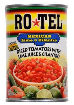 Canned Tomato, Rotel® Mexican Diced Tomatoes with Lime Juice & Cilantro (10 oz Can)