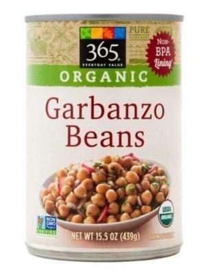 Canned Garbanzo Beans, 365® Organic Garbanzo Beans (15 oz Can)