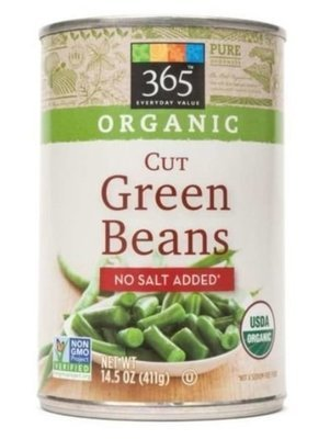 Canned Green Beans, 365® Organic