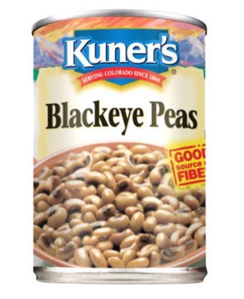 Canned Peas, Kuner's® Blackeye Peas (15 oz Can)