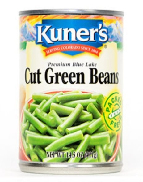 """Canned Green Beans, Kuner's® """"Cut"""" Green Beans (14.5 oz Can)"""