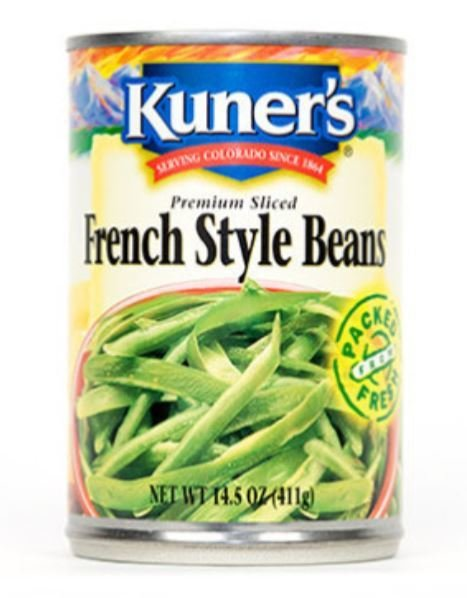 "Canned Green Beans, Kuner's® ""French Style"" Green Beans (14.5 oz Can)"