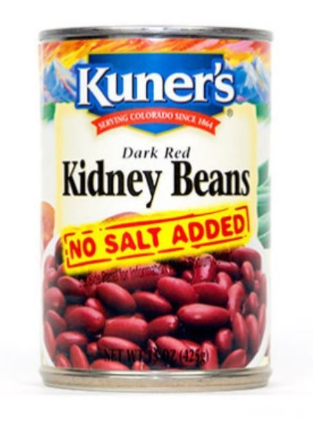 Canned Kidney Beans, Kuner's® No Salt Kidney Beans (15 oz Can)