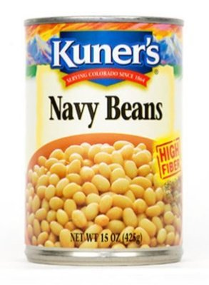 Canned Navy Beans, Kuner's® Navy Beans (15 oz Can)
