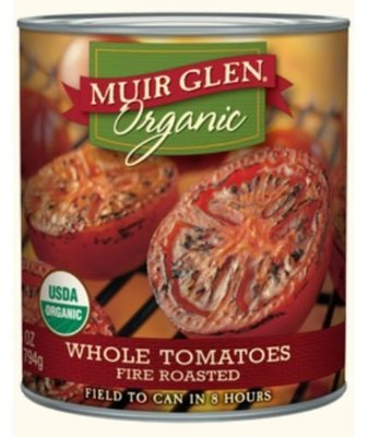 Canned Tomato, Muir Glen® Organic Fire Roasted Whole Tomatoes (28 oz Can)