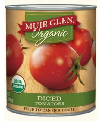 Canned Tomato, Muir Glen® Organic Diced Tomatoes (28 oz Can