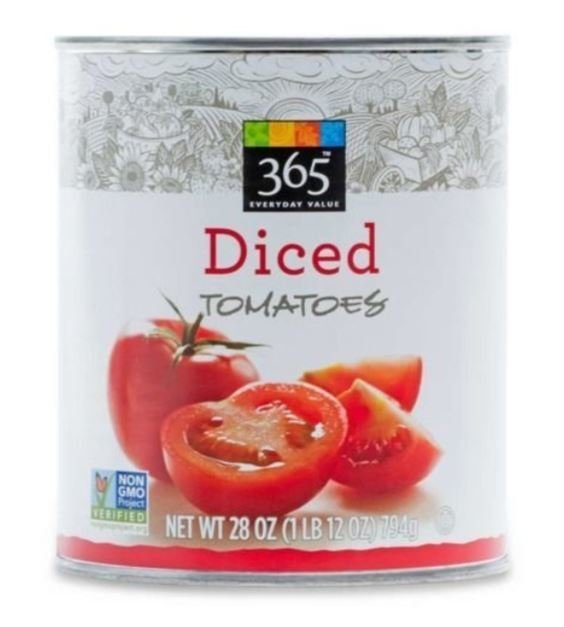 Canned Tomato, 365® Diced Tomatoes (28 oz Can)