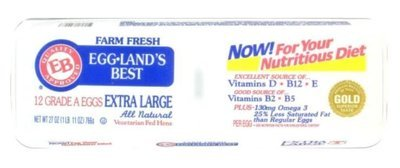 Dairy Eggs, Eggland's Best® Extra  Large Grade A White Eggs (12 Eggs)