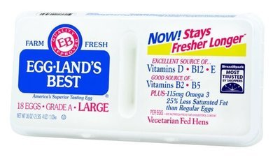 Dairy Eggs, Eggland's Best® Extra Large Grade A White Eggs (1½ Dozen-18 Eggs)