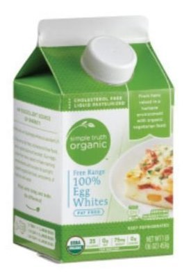 Organic Egg Whites, Simple Truth Organic™ 100% Egg Whites (16 oz Carton)