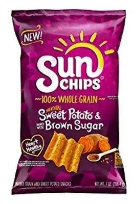 Chips, Frito-Lay® Sun Chips™ Sweet Potato & Brown Sugar Chips (7 oz Bag)