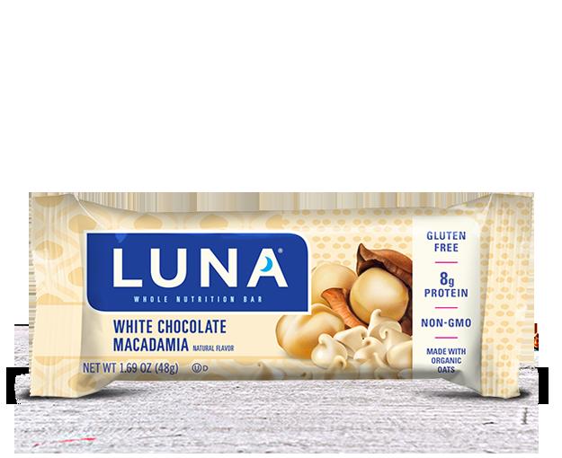 Energy Bars, Luna® White Chocolate Macadamia Bar (1.69  oz Bag)