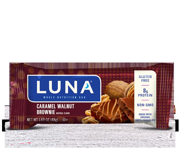Energy Bars, Luna® Caramel Walnut Brownie Bar (1.69  oz Bag)