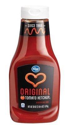 Ketchup, Kroger® Tomato Ketchup (38 oz Bottle)