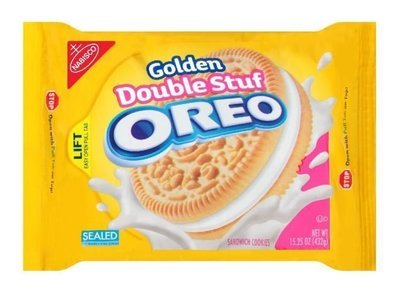 Sandwich Cookies, Nabisco® Oreo Golden® Double Stuf™ Sandwich Cookies (15.25 oz Bag)