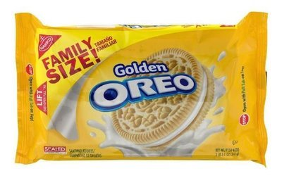 Sandwich Cookies, Nabisco® Oreo Golden® Sandwich Cookies (Family Size, 19.1 oz Bag)