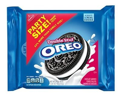 Sandwich Cookies, Nabisco® Oreo® Double Stuf™ Sandwich Cookies (Party Size, 26.7 oz Bag)