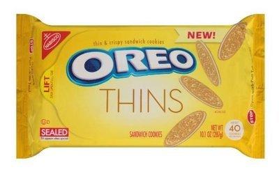 Sandwich Cookies, Nabisco® Oreo Golden Thins® Sandwich Cookies (10.1 oz Bag)